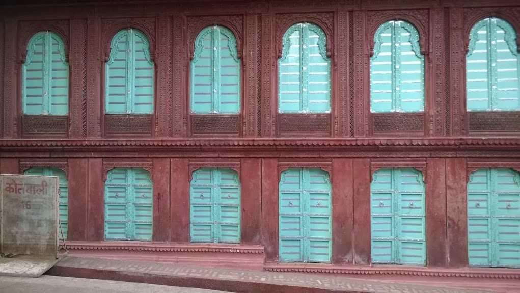 blue gates of Havelis in Rajasthan
