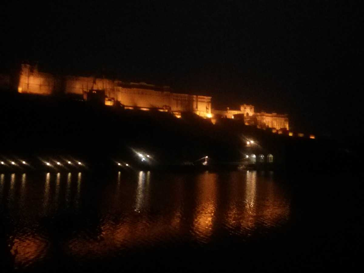 Amer Fort in the evening, Jaipur, road trips from Delhi