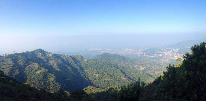 View of Chandigarh from Kasauli, road trip from delhi
