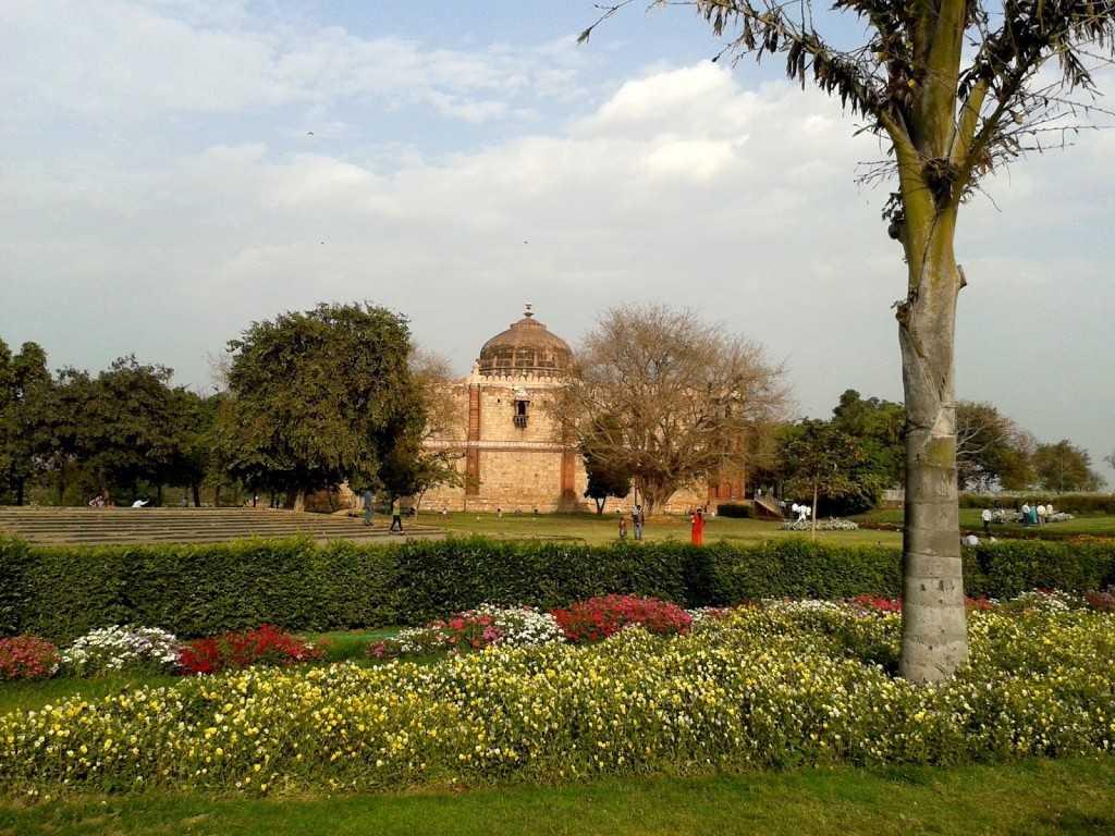 Gardens near Purana Quila
