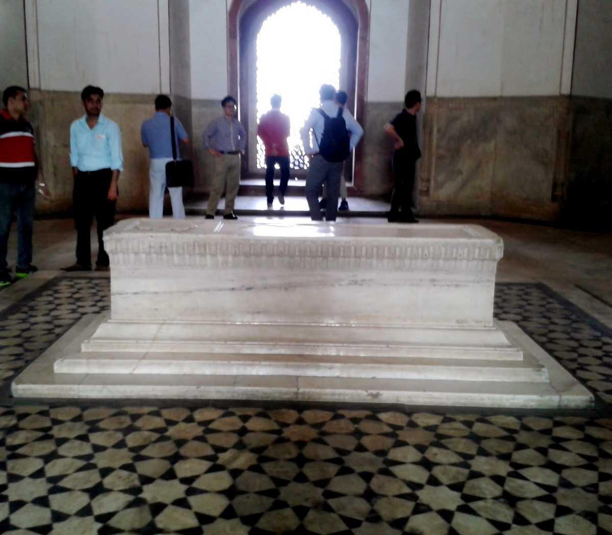 The tomb, constructed above the original tomb, Delhi