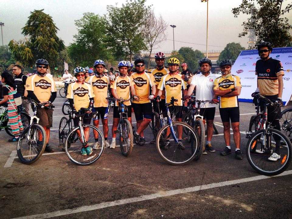 Pedal Yatri members in Gurgaon: Mountain biking in India