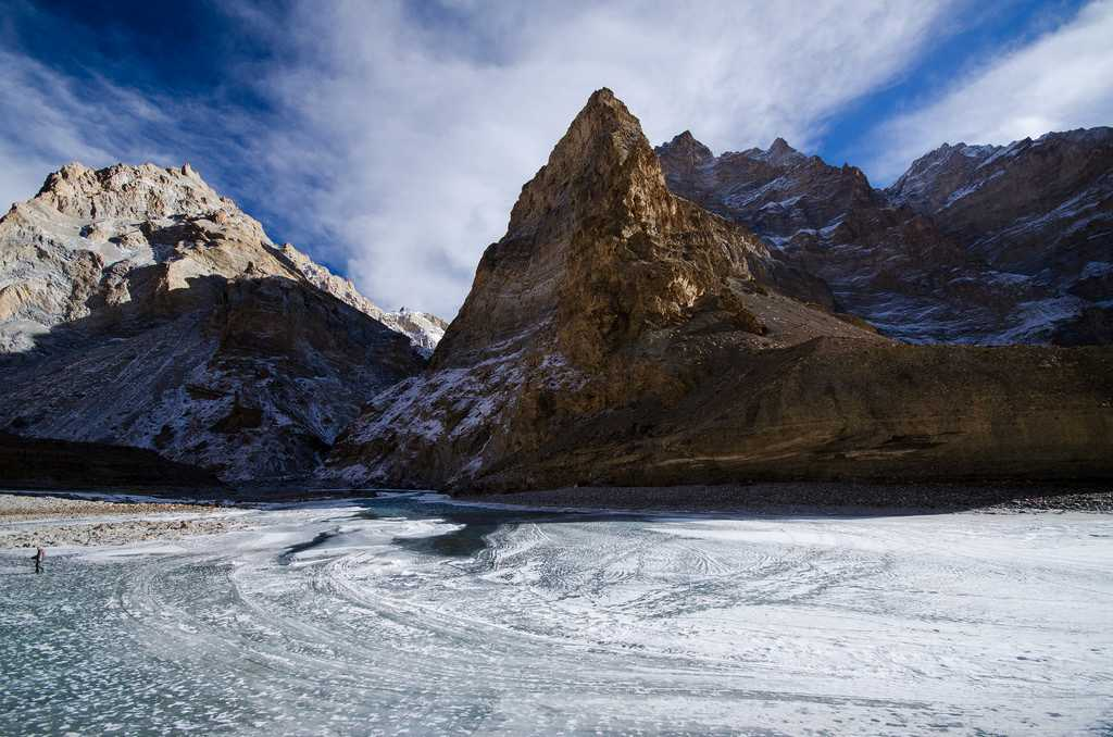 Frozen Zanskar River: Perfect place for Chadar treks