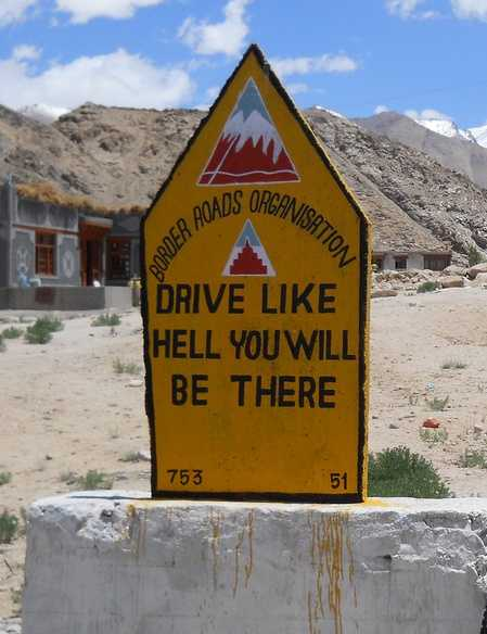 Road Signs by BRO, Ladakh