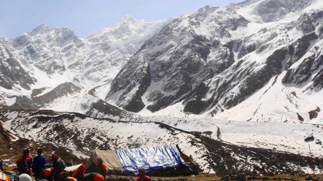 Base camp for Nehru Institute of Mountaineering