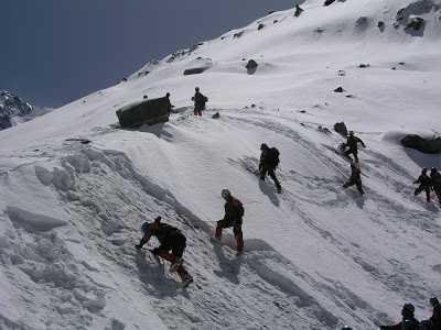 Ice climbing at Nehru Institute of Mountaineering