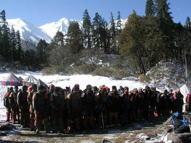 Morning Assembly at Nehru Institute of Mountaineering