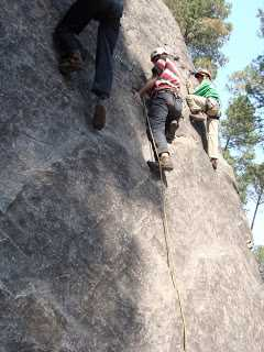 Roped Climing at Nehru Institute of Mountaineering