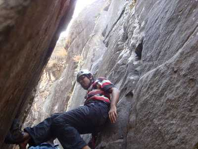 Roped Climbing at Nehru Institute of Mountaineering