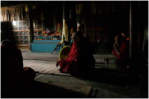 Meditating Monks Buddhist Places In India