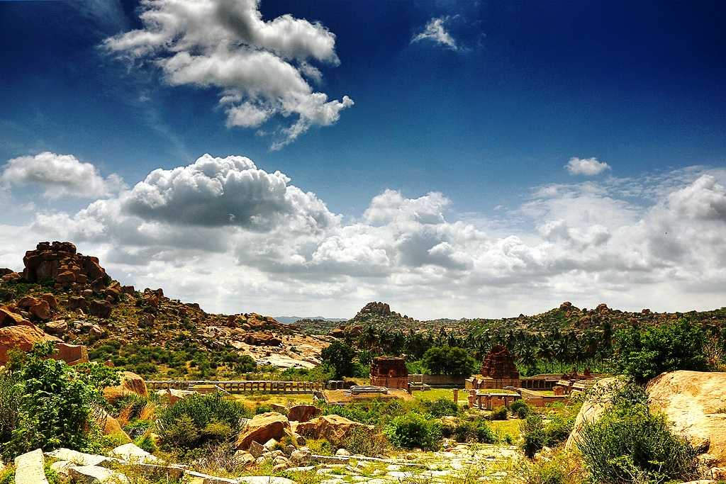 Monuments at Hampi, world heritage site in india