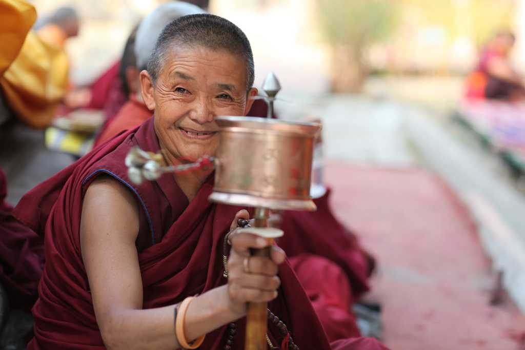 Buddhist monk, Buddhist sites in India