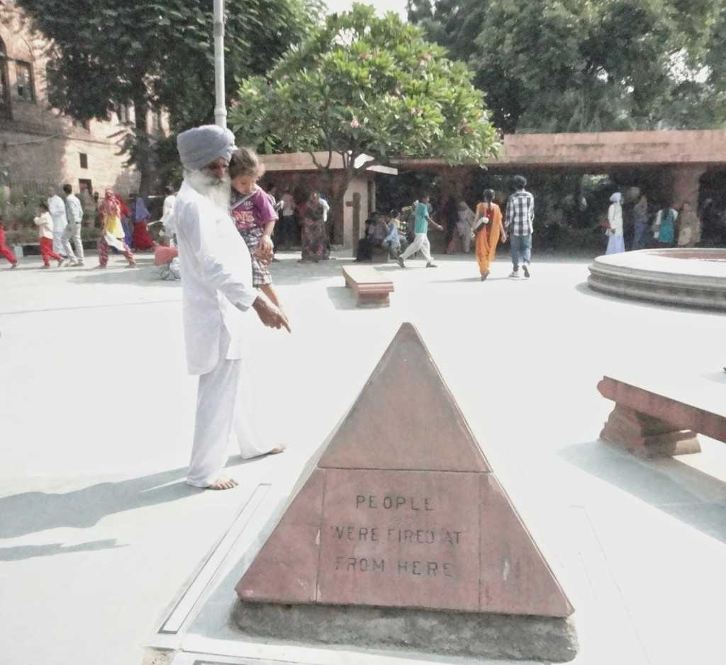 Jallianwala bagh - history being taught