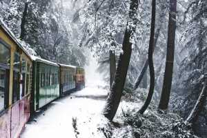 "The Mountain Railways of India represents a collective listing of the Darjeeling Himalayan Railway, the Nilgiri Mountain Railway and the Kalka-Shimla Railway under the UNESCO World Heritage Site. However, the Mountain Railways of India are five railway lines built in the mountains of India in the 19th and early 20th centuries, during the British Raj, which are run even today by the Indian Railways. Three out of these five railways, the Darjeeling Himalayan Railway (1881), the Kalka-Shimla Railway (1898) and the Kangra Valley Railway (1924), are located in the rugged hill regions of the Himalayas of Northern India and the other two are much further south in the Western Ghats; the Nilgiri Mountain Railway in Southern India, and the Matheran Hill Railway in Maharashtra. The World Heritage UNESCO recognition to three of the five Mountain Railways of India has been stated as for being ""outstanding examples of bold, ingenious engineering solutions for the problem of establishing an effective rail link through a rugged, mountainous terrain. The Darjeeling Himalayan Railway was recognized first in 1999, the Nilgiri Mountain Railway followed suite as an extension to the site in 2005, and in 2008 the Kalka–Shimla Railway was further added as an extension; and the three together have been titled as Mountain Railways of India under Criteria: ii, iv under the region in the Asia-Pacific. The claims of the Matheran Hill Railway, the fourth hill line, are pending acceptance by the international body."