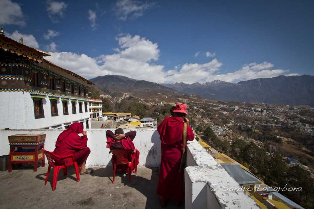 Buddhist monks in Tawang, Buddhist sites in India