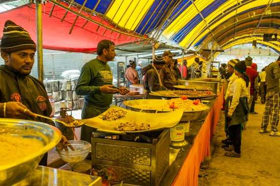 Lunch facilities along the Amarnath Yatra Route