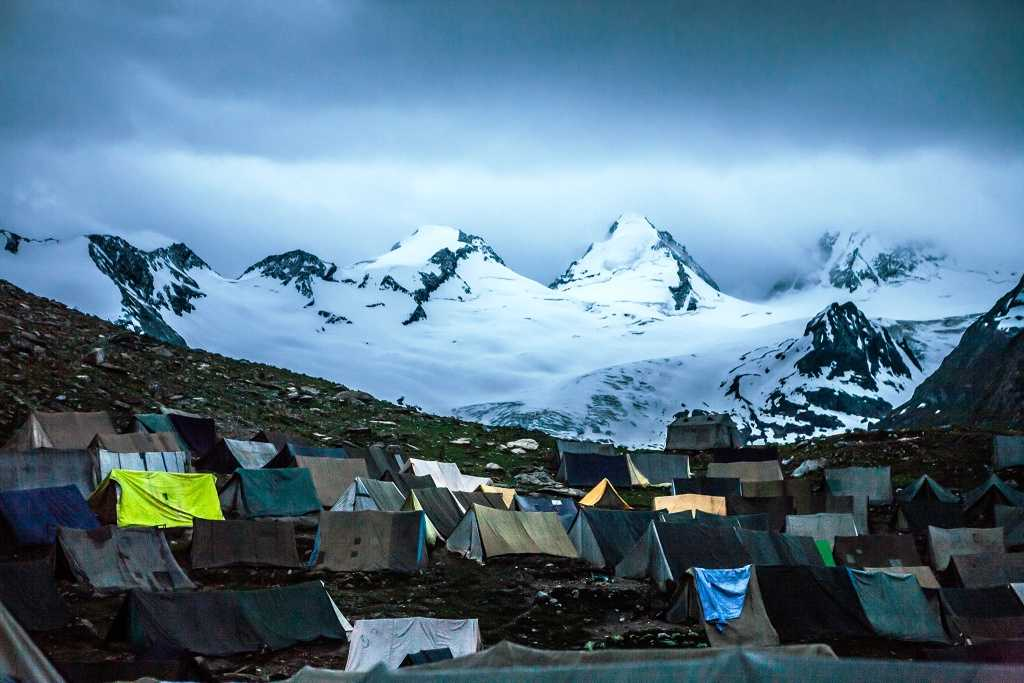 Night stay camp on Amarnath yatra route
