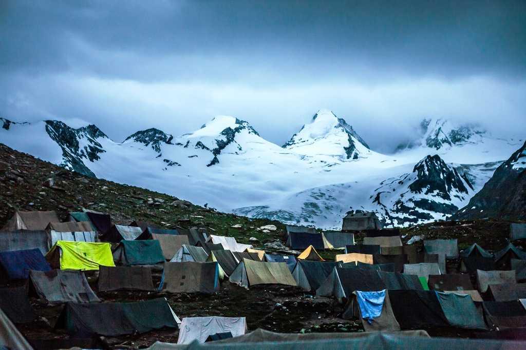 Night stay camp, Amarnath yatra route