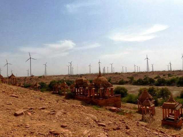 Wind farms outside Jaisalmer