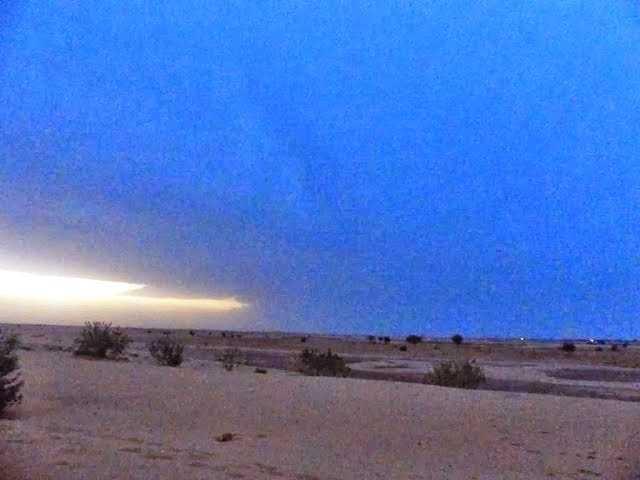Lightning in desert- Jaisalmer Sand dunes