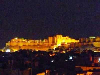 The Golden Fort in night