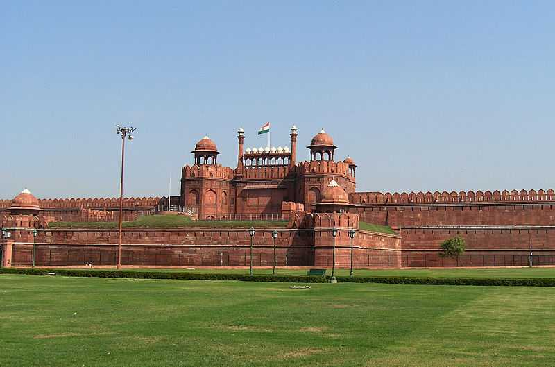 Red Fort with the Indian Flag
