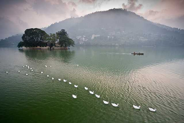 Bhimtal Lake , best places to visit in september in india