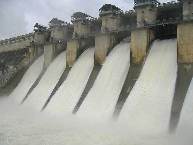 Gorur Dam in monsoon near Bangalore