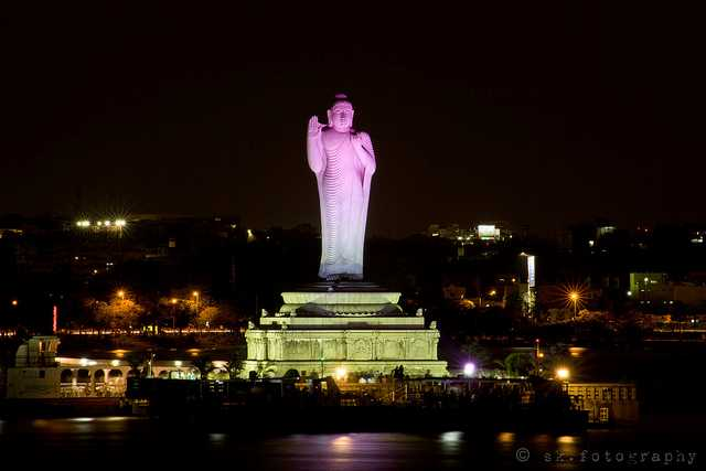 Buddha statue at Hussain Sagar, Places to visit in Hyderabad