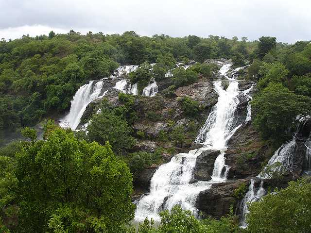 Shivanasamundram Falls near Bangalore fop Monsoon