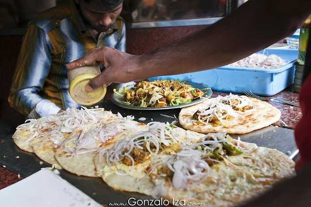 Kathi Rolls on Park Streek, Street food of Kolkata