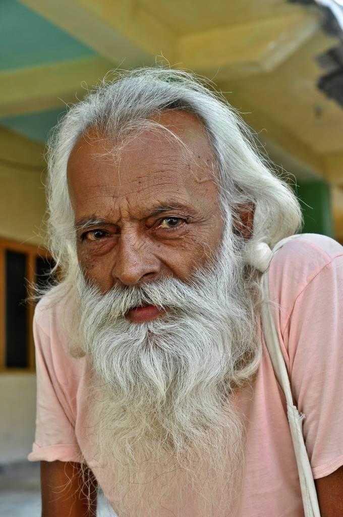White-haired mystic in Kullu India
