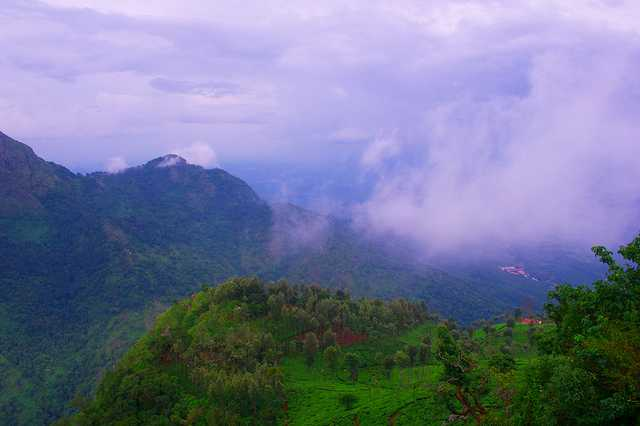 Coonoor, top hill-station in South India in September