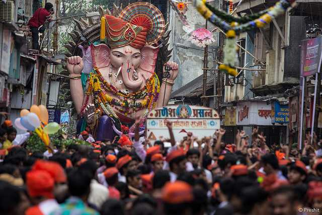 Image result for ganesh chaturthi procession