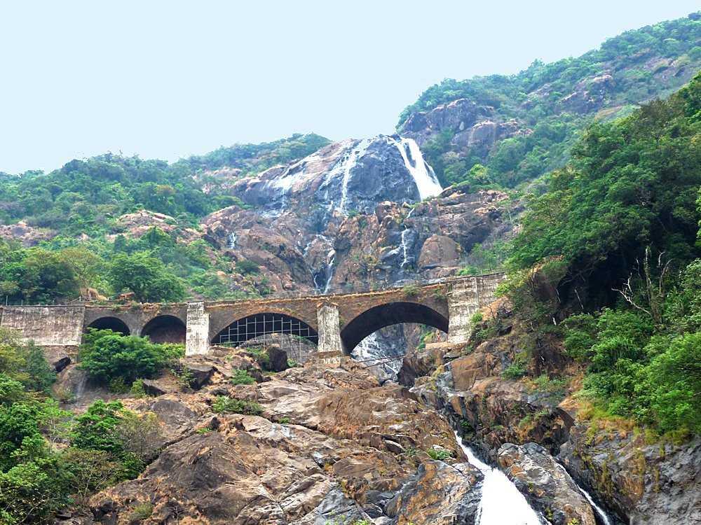Dudhsagar Falls train view