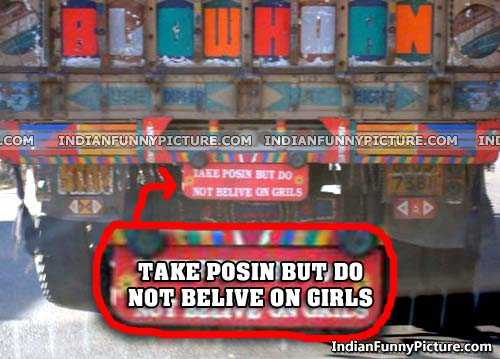 Funny Indian Truck Slogans