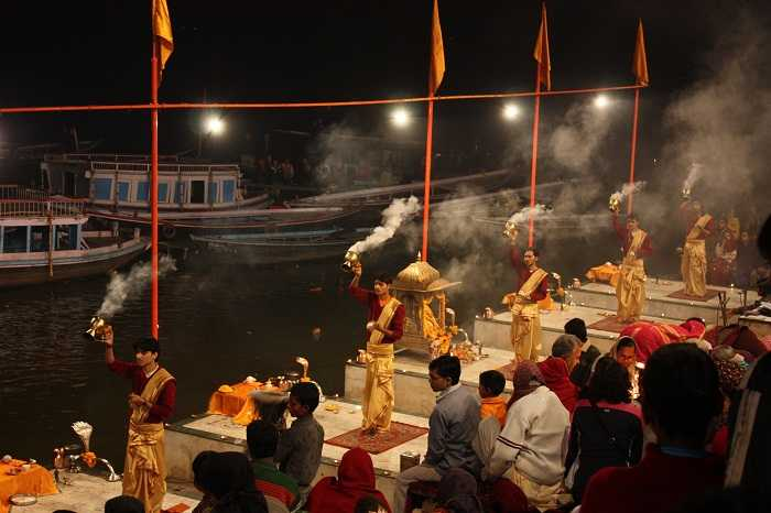 Aarti on ghats in Varanasi must visit