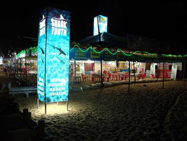 A Shack at Candolim Beach, Nightlife in Goa
