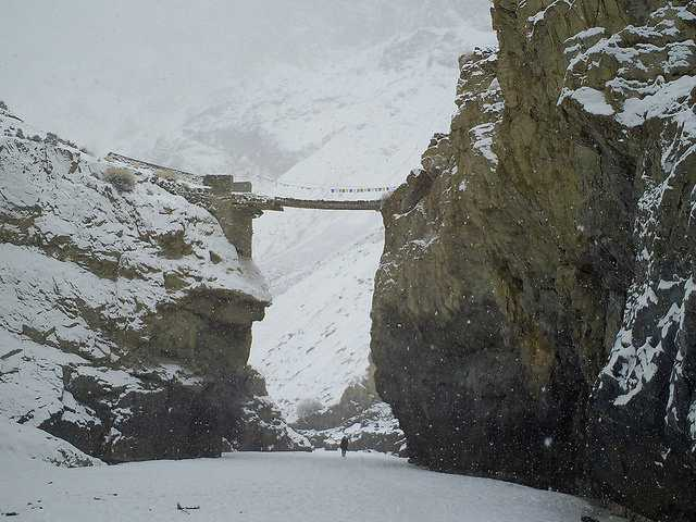 Nerak Pull or Bridge, chadar trek in Ladakh
