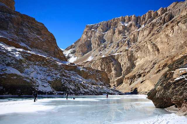 Starting point of the chadar trek