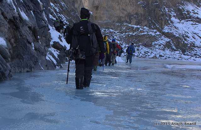 Back to base camp, Chadar trek