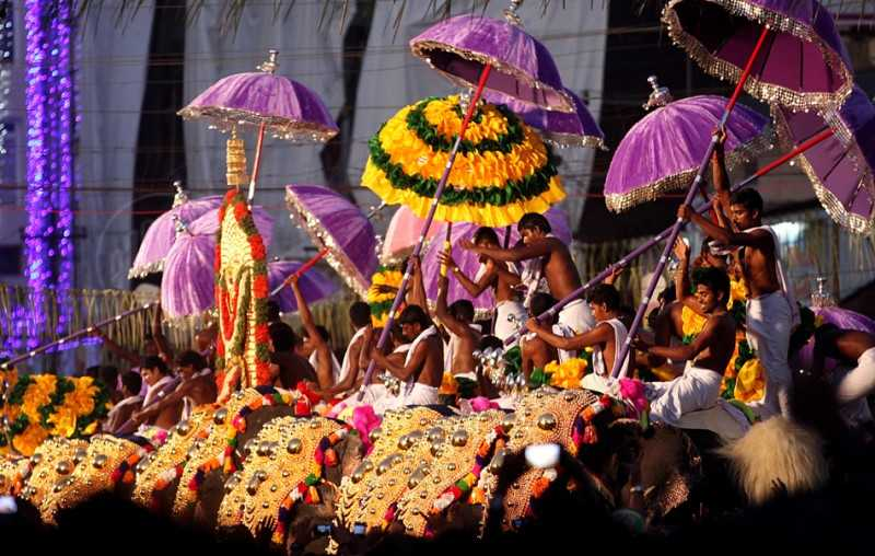 Thrissur Pooram in Kerala  in April