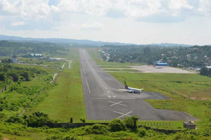 Port Blair Airport in India, amazing scenery