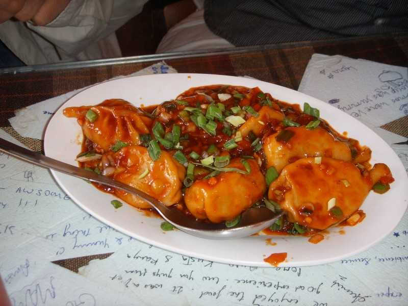 Devil's Chicken Momos at Kalsang Friend's Corner