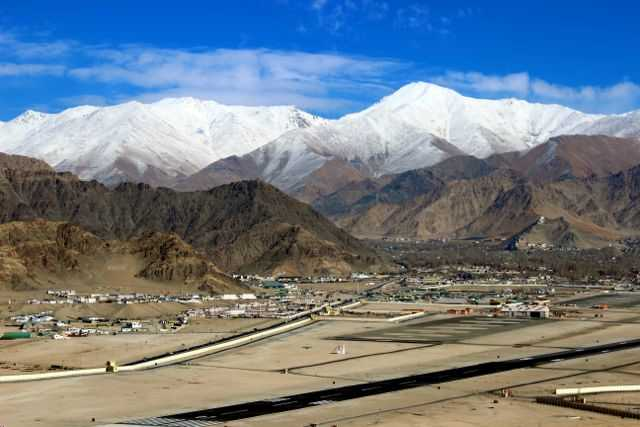 Leh Airport, Ladakh in winter