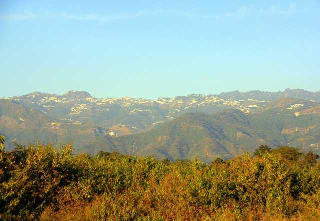 Looking out to Mussoorie from Dehradun