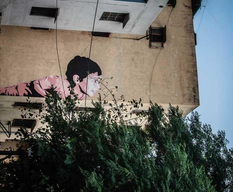 shahpur Jat wall graffiti