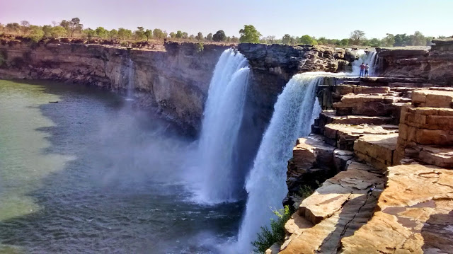 Chitrakoot Falls - this a view of it in the summer. I leave you to imagine what it might look like during the monsoons