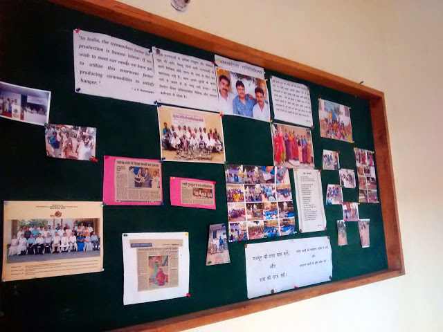 A little bulletin board at Saathi's office
