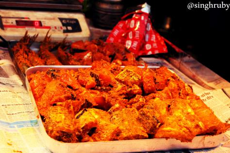 Marinated chicken, ready to be fried.